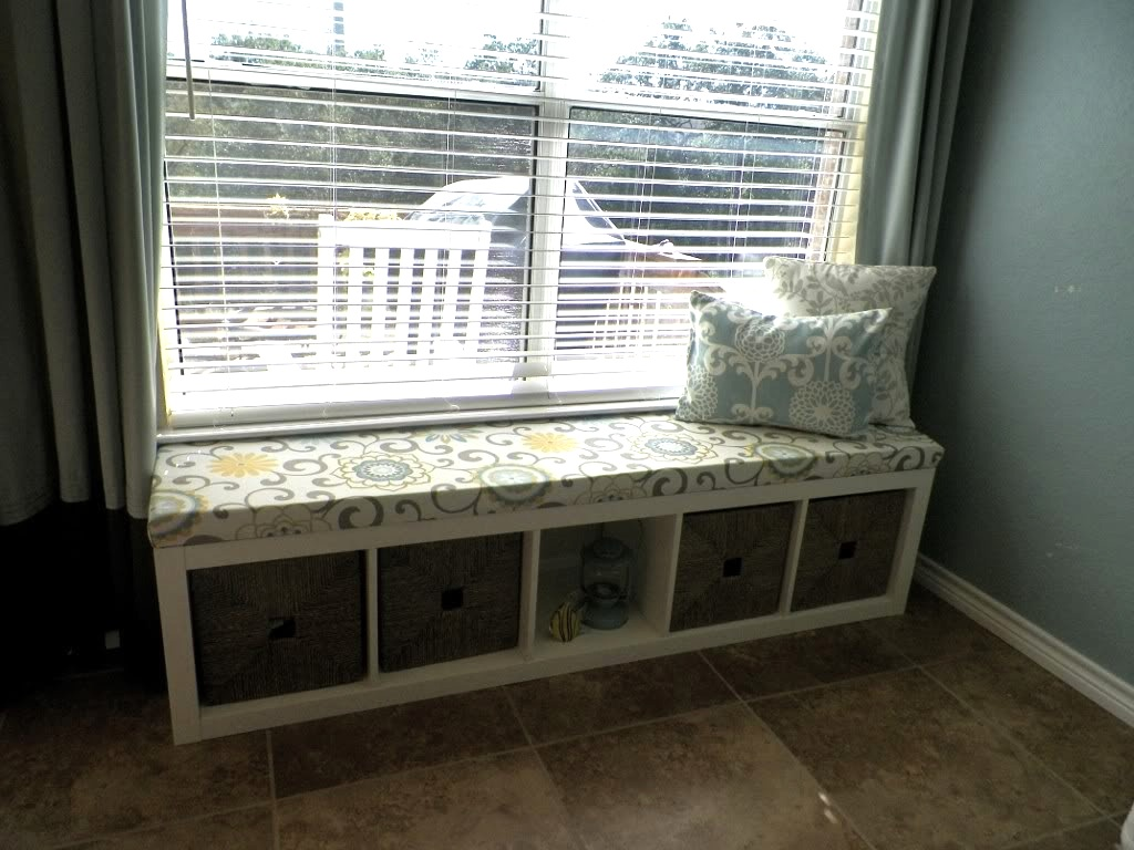ikea hack turn a shelving unit into a window seat